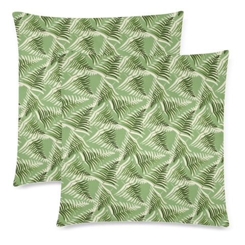 Image of New Zealand Fern Leaves Pattern Zippered Pillow Case 02 - 1st New Zealand