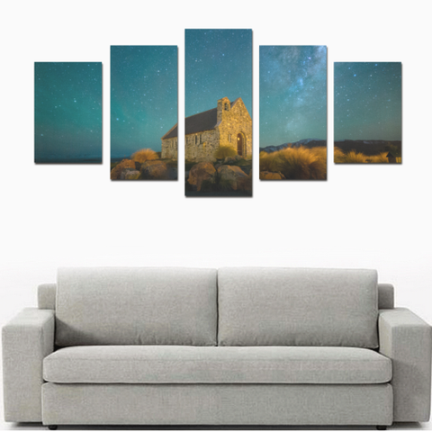Image of New Zealand Landscape Canvas Print - Church of the Good Shepherd 2 K4 - 1st New Zealand