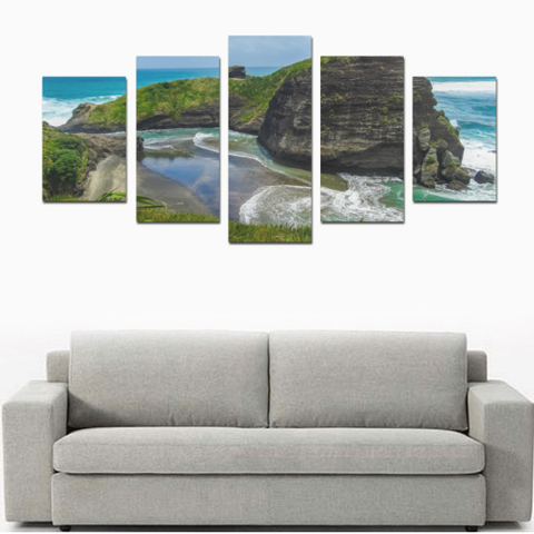 Image of West Coast New Zealand Canvas Print K4 - 1st New Zealand