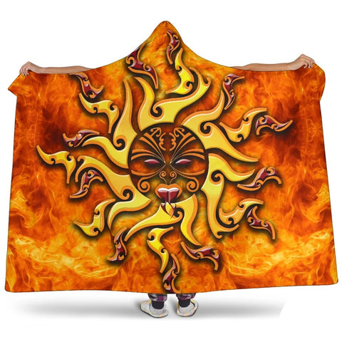 Image of Maori Hooded Blanket Tamanuitera The Sun K4 - 1st New Zealand
