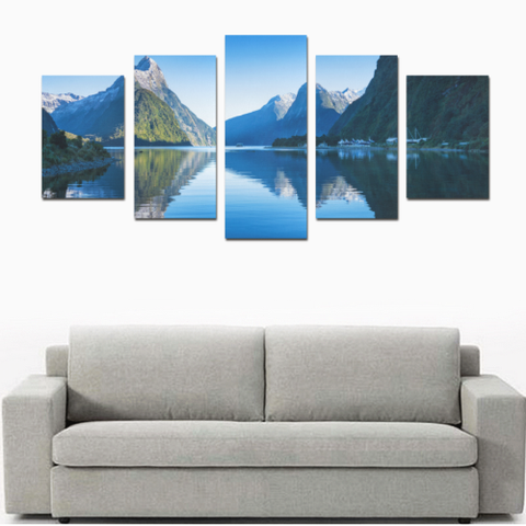 New Zealand Landscape Canvas Print - Milford Sound K4 - 1st New Zealand