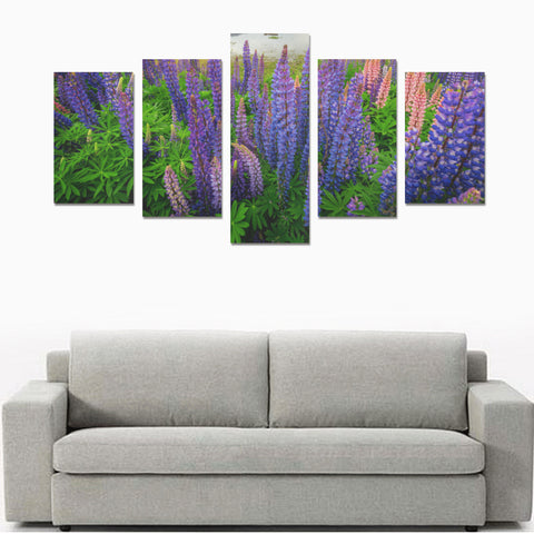 New Zealand Lupins Flower Canvas Print K4 - 1st New Zealand