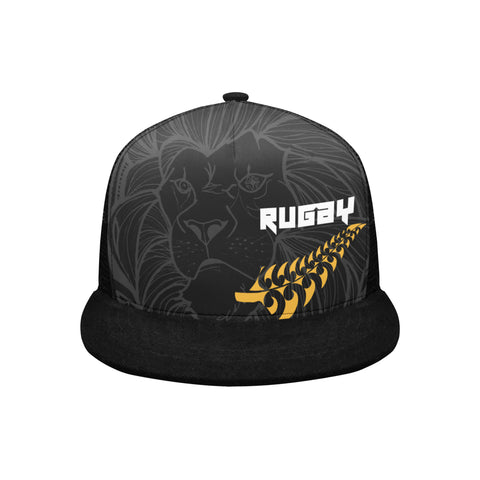 Image of New Zealand Maori Lion Rugby Trucker Hat K5 - 1st New Zealand