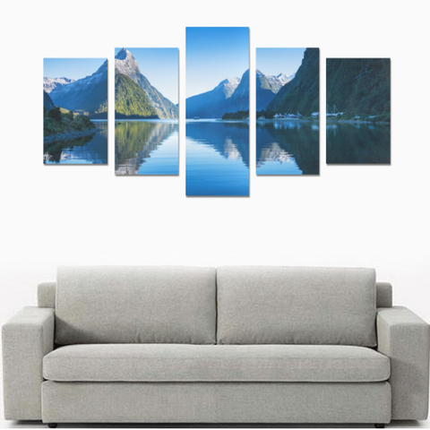 Image of New Zealand Landscape Canvas Print - Milford Sound K4 - 1st New Zealand