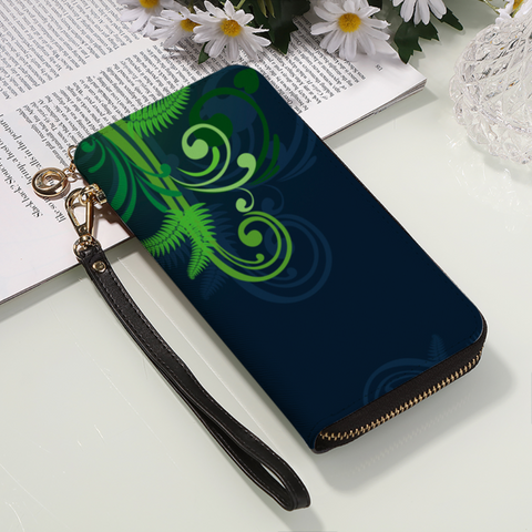 New Zealand Silver Fern Wallet Green - 1st New Zealand