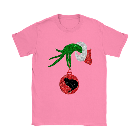 Grinch Hand Hold Kiwi T shirt Christmas K4