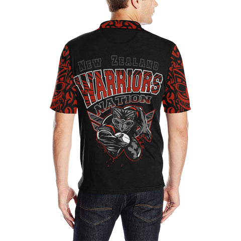 New Zealand Warriors Polo T Shirt Unique Style back