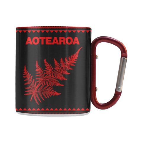 Aotearoa - New Zealand Red Insulated Mug K4 - 1st New Zealand