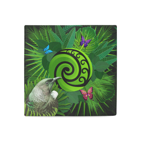 New Zealand Women Wallet Koru Fern Mix Tui Bird - Tropical Floral K4