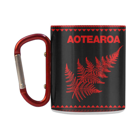Aotearoa New Zealand Maori Insulated Mug Red K4x - 1st New Zealand