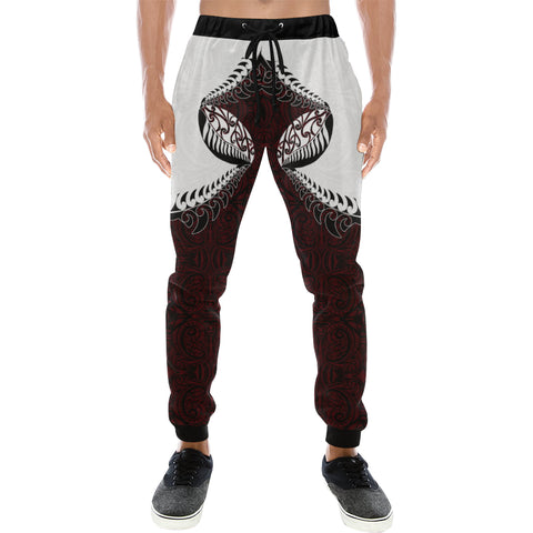 Rugby Haka Style - Dark Red Sweatpants K24 - 1st New Zealand