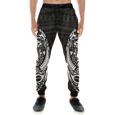Maori Tattoo New Zealand Sweatpants Version 2.0 with White color - Front - For Men