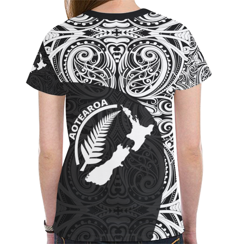 New Zealand Rugby Shirt, Aotearoa And Silver Fern All Over Print T Shirts TH90 - 1st New Zealand