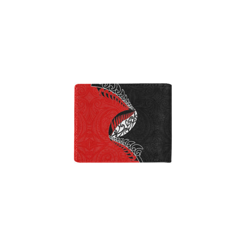 Aotearoa Rugby Fern Mini Bifold Wallet Red right