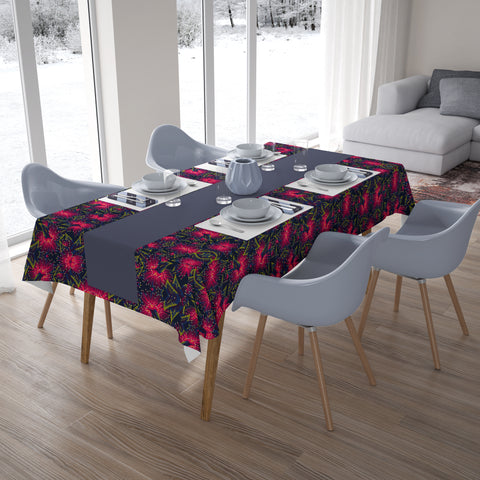 Image of New Zealand Pohutukawa Tablecloth Pink - 1st New Zealand