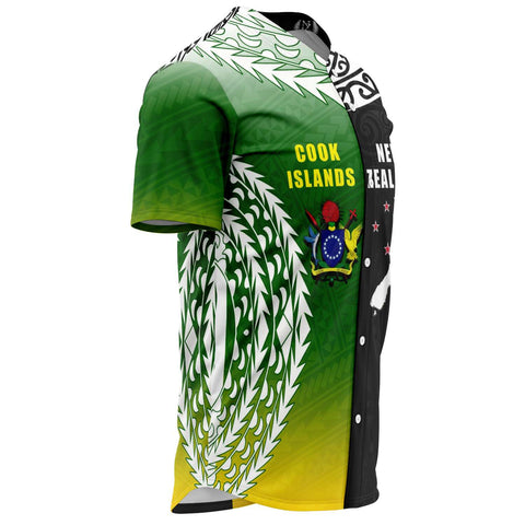 New Zealand Cook Islands Baseball Jersey K4