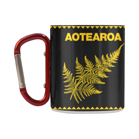 Aotearoa - New Zealand Yellow Insulated Mug K4 - 1st New Zealand