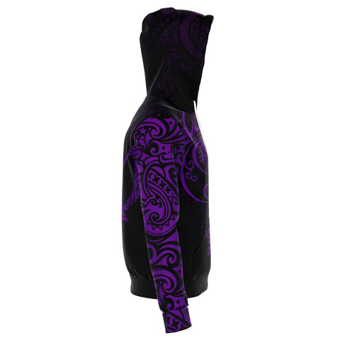 Virgo Zodiac Zip Hoodie Aotearoa Maori Tattoo | Love New Zealand side 3