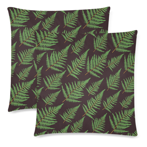 New Zealand Fern Leaves Pattern Zippered Pillow Cases 14