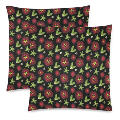 New Zealand Pohutukawa Pattern Zippered Pillow Cases 05