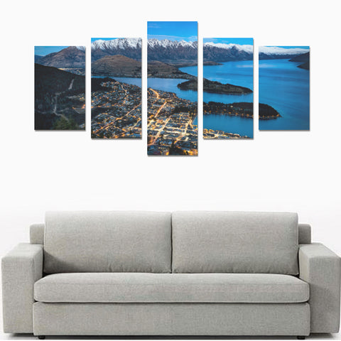 New Zealand Queenstown at Night Canvas Print K4 - 1st New Zealand
