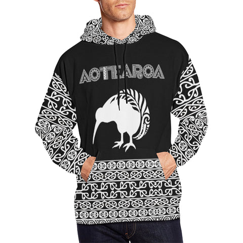 Image of Aotearoa Kiwi Fern Hoodie for men front | new zealand hoodie