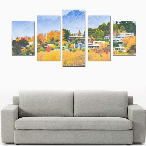 Image of New Zealand Wanaka Tree in Autumn Canvas Print K4 - 1st New Zealand