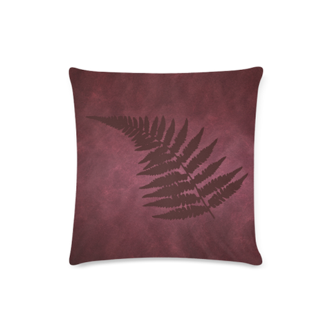 Silver Fern New Zealand Zippered Pillow Case - Red