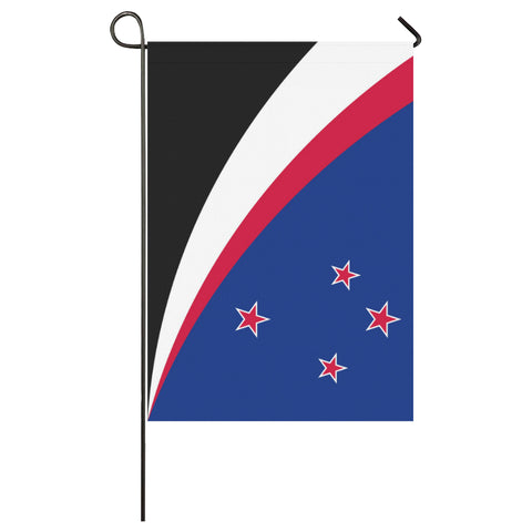 Image of Maori New Zealand Garden Flag (Traditional Blue) K4