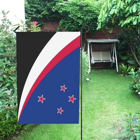 Image of Maori New Zealand Garden Flag (Traditional Blue) K4 - 1st New Zealand