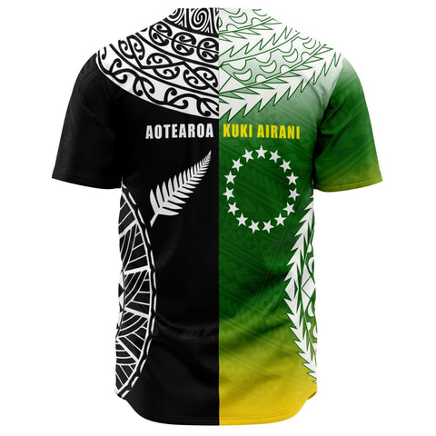 Image of New Zealand Cook Islands Baseball Jersey K4