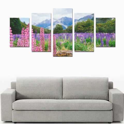 Lupin flower in Fiordland National Park Canvas Print K4 - 1st New Zealand