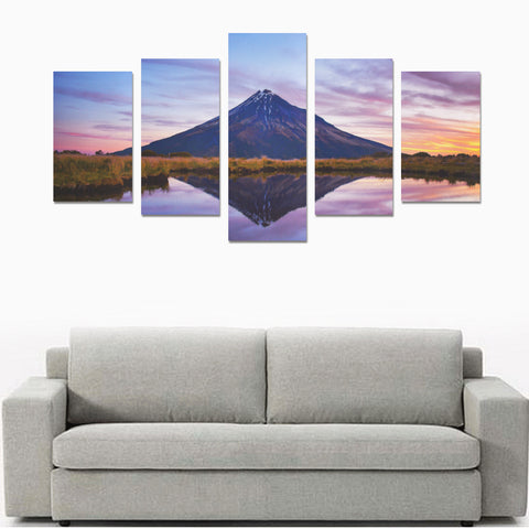 Image of New Zealand Mount Taranaki at Sunset Canvas Print K4 - 1st New Zealand