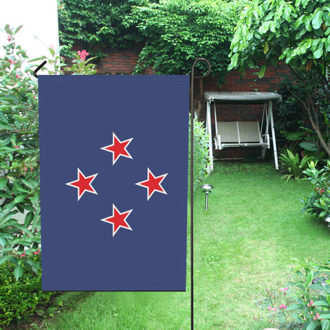 Image of New Zealand New Southern Cross Garden Flag - garden flags, new zealand garden flag, flag new zealand, home decor