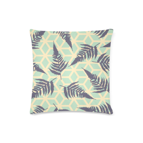 New Zealand Fern Leaves Pattern Zippered Pillow Case