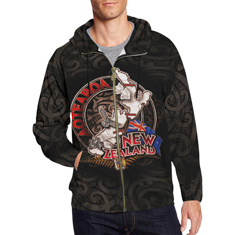Aotearoa-New Zealand My World Zip-Up Hoodie Th5 - 1st New Zealand