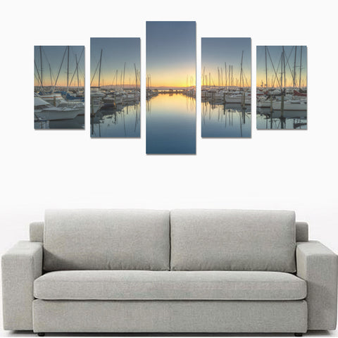Image of New Zealand Landscape Canvas Print - Sunset in Tauraga K2 - 1st New Zealand