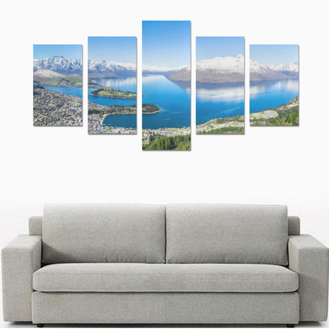 Image of Queenstown in Winter New Zealand Canvas Print K4 - 1st New Zealand