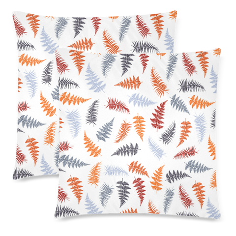 New Zealand Fern Leaves Pattern Zippered Pillow Cases 10