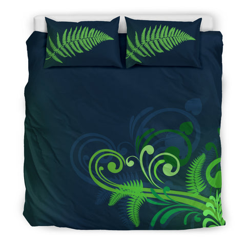 Image of Silver Fern New Zealand Bedding Set - Green L15 - 1st New Zealand