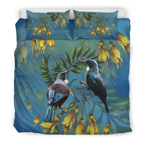 Tui And Kowhai New Zealand Bedding Set H45 - 1st New Zealand