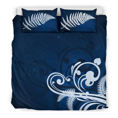 Image of Silver Fern New Zealand Bedding Set - Blue L15 - 1st New Zealand