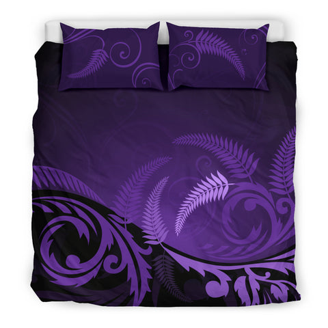 Image of New Zealand Silver Fern Bedding Set - Purple H55 - 1st New Zealand