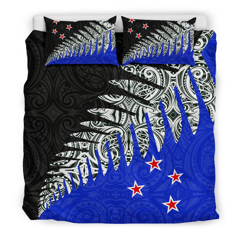 Image of New Zealand Silver Fern Bedding Set Blue K4 - 1st New Zealand