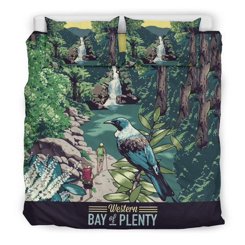 Image of New Zealand Bedding Set, Tui Bird Duvet Cover And Pillow Case K5 - 1st New Zealand