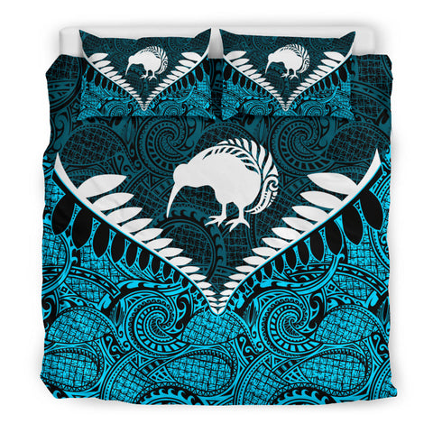 New Zealand Kiwi Fern Bedding Set Blue K4