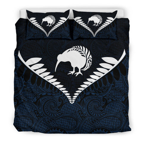 New Zealand Kiwi Fern Bedding Set Navy K4