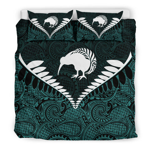 New Zealand Kiwi Fern Bedding Set Aquamarine K4