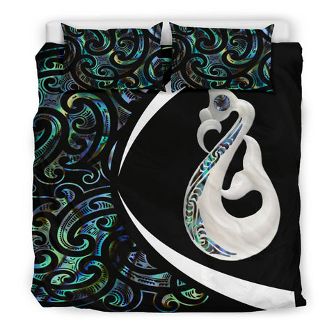 New Zealand Maori Manaia Paua Shell Bedding Set - Circle Style J95 - 1st New Zealand