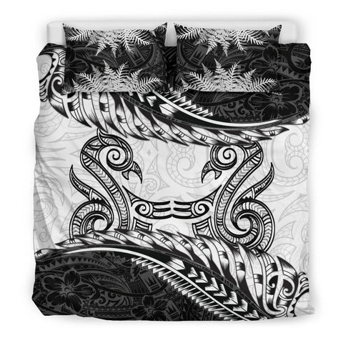 New Zealand Bedding Set Manaia Maori - Silver Fern Duvet Cover TH5 - 1st New Zealand